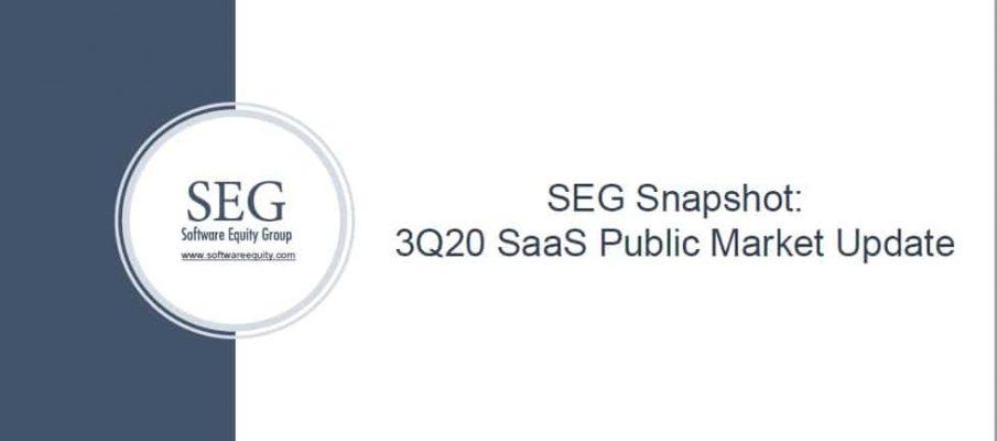 SEG Q320 SaaS Valuation