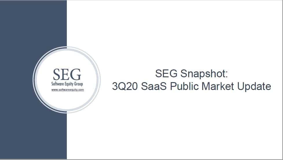 SEG Q320 SaaS Valuation