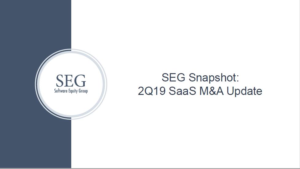 SEG Q2 2019 SaaS M&A